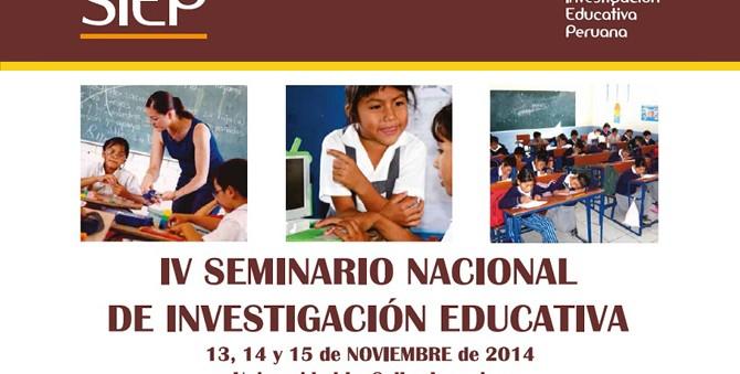 Cueto, Rojas y León realizarán talleres en el IV Seminario Nacional de la Sociedad de Investigación Educativa Peruana