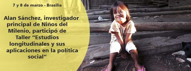 Sánchez explicó características de Niños del Milenio/ Young Lives en Taller sobre estudios longitudinales
