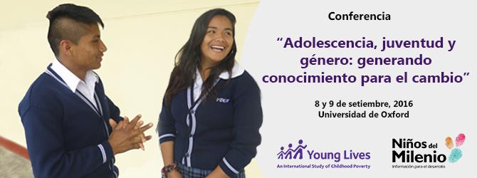 """Se acerca la conferencia: """"Adolescencia, juventud y género: generando conocimiento para el cambio"""" (8-9 septiembre 2016), Universidad de Oxford"""