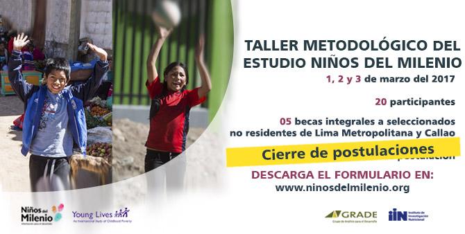 Taller metodológico del estudio Niños del Milenio en Perú (1, 2 y 3 marzo de 2017)